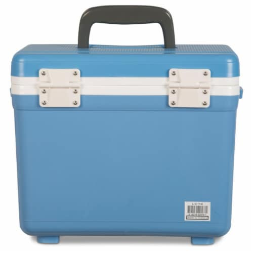 Engel 7.5-Quart EVA Gasket Seal Ice and DryBox Cooler with Carry Handles, Blue Perspective: bottom