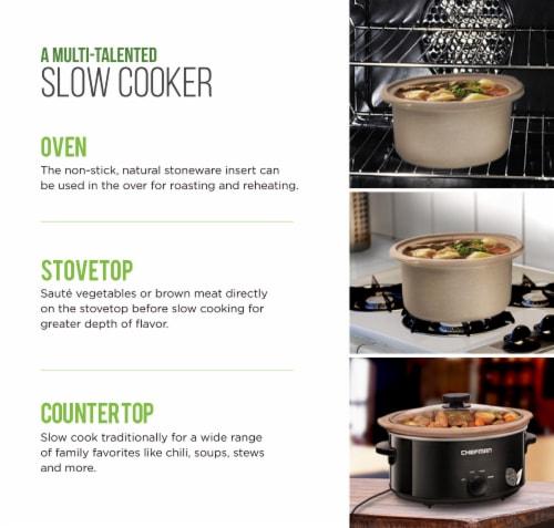 Chefman Natural Slow Cooker - Black Perspective: bottom