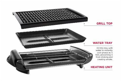 Chefman Electric Smokeless Indoor Grill with Nonstick Coating - Black Perspective: bottom