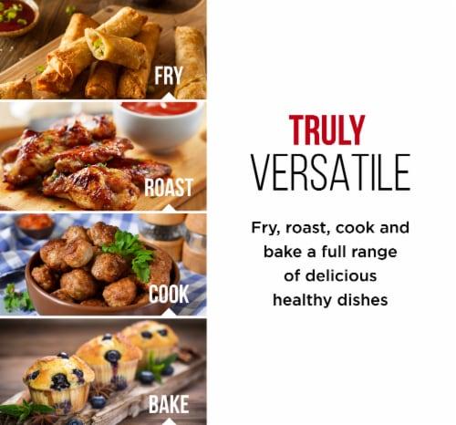 Chefman Flat Basket Air Fryer - Black Perspective: bottom