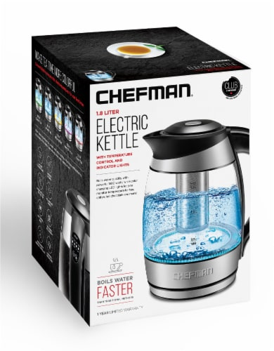 Chefman Electric Glass Kettle with Tea Infuser - Stainless Steel Perspective: bottom
