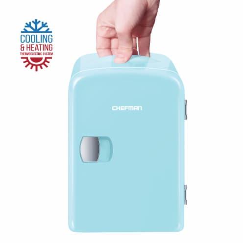 Chefman Mini Portable Personal Fridge - Light Blue Perspective: bottom
