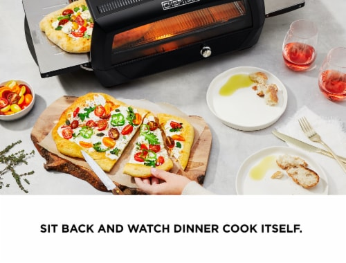 Chefman Food Mover Conveyor Toaster Oven - Black Perspective: bottom