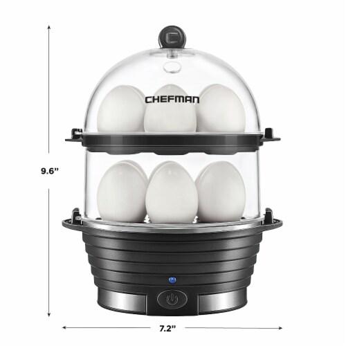 Chefman Electric Double Decker Egg Cooker Boiler - Black Perspective: bottom