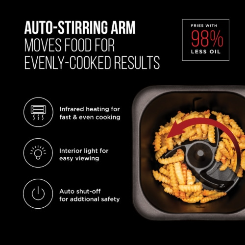 Chefman Auto-Stir Air Fryer Convection Oven Perspective: bottom
