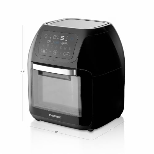 Chefman Digital Air Fryer + Oven - Black Perspective: bottom