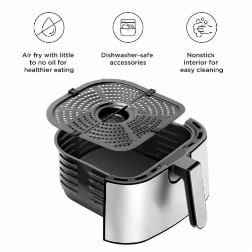 Chefman Square Stainless Steel Air Fryer - Silver Perspective: bottom