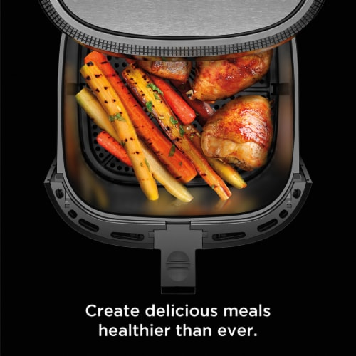 Chefman TurboFry Stainless Steel Air Fryer - Silver Perspective: bottom