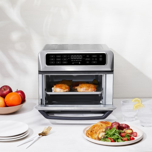 Chefman Stainless Steel Dual-Function Air Fryer and Toaster Oven Perspective: bottom
