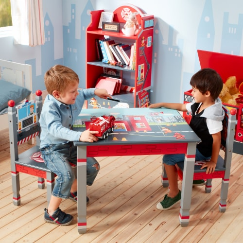 Fantasy Fields Lil Fire Fighters Childrens Kids Toddler Wooden Table TD-12514A1 Perspective: bottom
