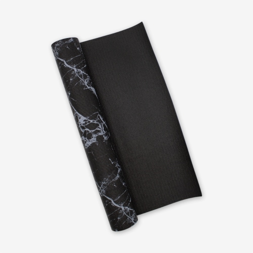 Oak and Reed Non-Slip  Yoga Mat, Black Marble Perspective: bottom