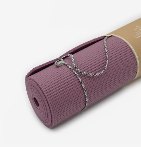 Oak and Reed Extra-Thick Non-Slip Yoga Mat with Carry Rope, Mauve Perspective: bottom