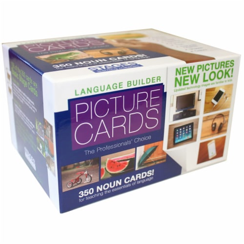 Stages Learning Materials Language Builder Picture Nouns Cards Set Perspective: bottom