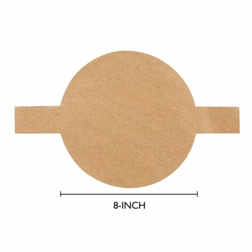 Parchment Paper Rounds with Lift Tabs (Brown, 8 In, 100-Pack) Perspective: bottom