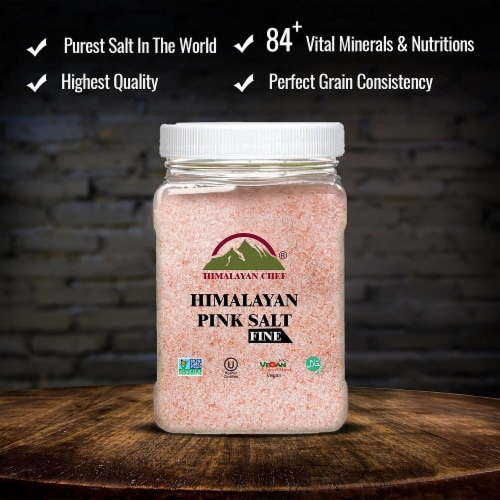 Himalayan Chef Pink Salt, Gourmet Pure Crystal, No Additives, Perfect for Seasoning | 5 lbs. Perspective: bottom