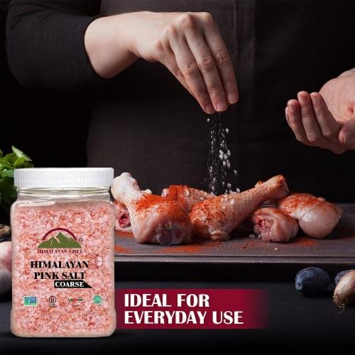 Himalayan Chef Pink Salt, 100% Natural, Coarse, Ideal for Salt Grinders & Salt Mills | 5 lbs. Perspective: bottom