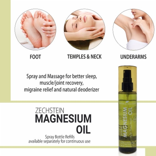Natural Solution Zechstein Magnesium Oil Spray, No Unhealthy Trace Minerals | 4 Oz Perspective: bottom