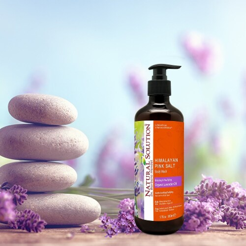 Natural Solution Body Wash, Organic Lavender Oil, Relax & Purify Skin Deeply - Pack of 6 Perspective: bottom