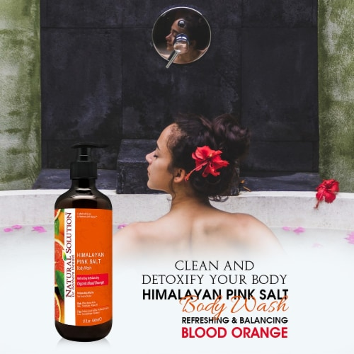 Natural Solution Body Wash, Purifying Pink Salt, Best for All Skin Types, Blood Orange–Pack 6 Perspective: bottom