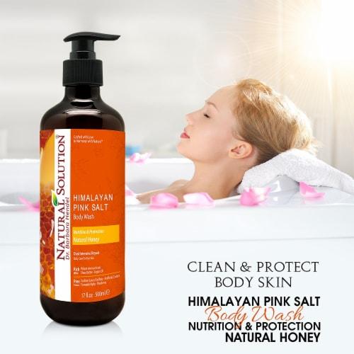 Natural Solution Body Wash, Repair Skin with Himalayan Pink Salt & Natural Honey - 17 oz Perspective: bottom