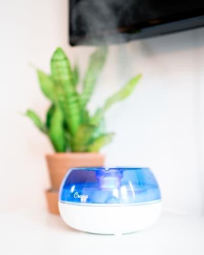 Crane Ultrasonic Cool Mist Humidifier - Blue/White Perspective: bottom