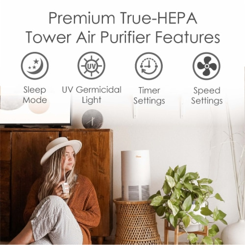 Crane True HEPA UV Air Purifier Perspective: bottom