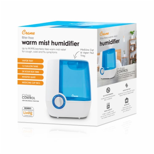 Crane Warm Mist Humidifier - Blue/White Perspective: bottom