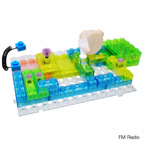 E-Blox Circuit Blox LED Colorful Building Set Perspective: bottom