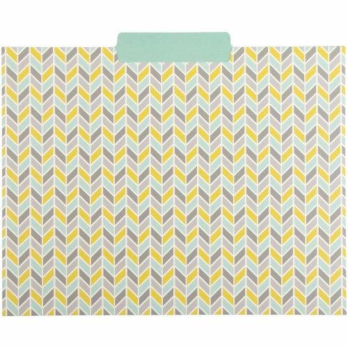 File Folders with Geometric Design, Letter Size (9.5 x 11.5 Inches, 12 Pack) Perspective: bottom