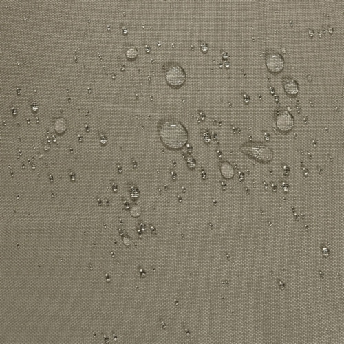 Sunnydaze Log Rack Cover Waterproof Polyester with PVC Backing - Khaki - 5' Perspective: bottom