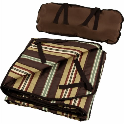 Sunnydaze Polyester Quilted Hammock Pad and Pillow Only Set - Desert Stripe Perspective: bottom