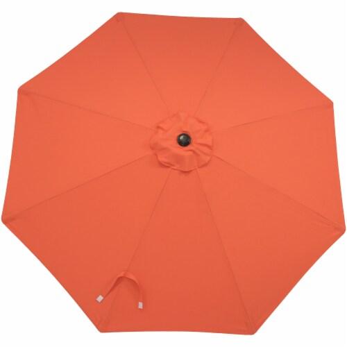 Sunnydaze 9' Fade Resistant Outdoor Patio Umbrella with Auto Tilt - Burnt Orange Perspective: bottom
