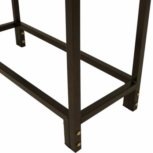 "Sunnydaze Log Rack 30"" Steel with Bronze Finish Indoor-Outdoor Firewood Storage Perspective: bottom"