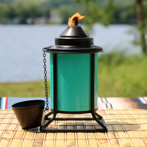 Sunnydaze Multi-Color Outdoor Backyard Patio Tabletop Metal Torches - Set of 4 Perspective: bottom