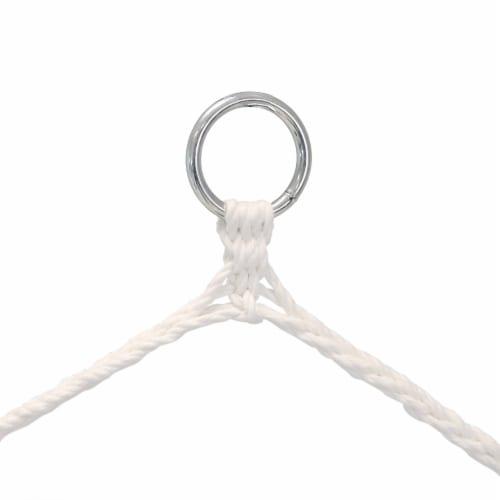 Sunnydaze Tufted Victorian Hammock Chair Swing - 300-Pound Limit - Navy Blue Perspective: bottom