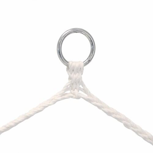 Sunnydaze Tufted Victorian Hammock Chair Swing - 300-Pound Limit - Sea Grass Perspective: bottom