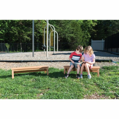 Kaplan Early Learning Outdoor Wooden Stacking Benches  - Set of 2 Perspective: bottom