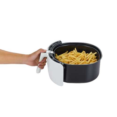 GoWISE USA 5.8-QT 8-in-1 Digital Air Fryer, White Perspective: bottom