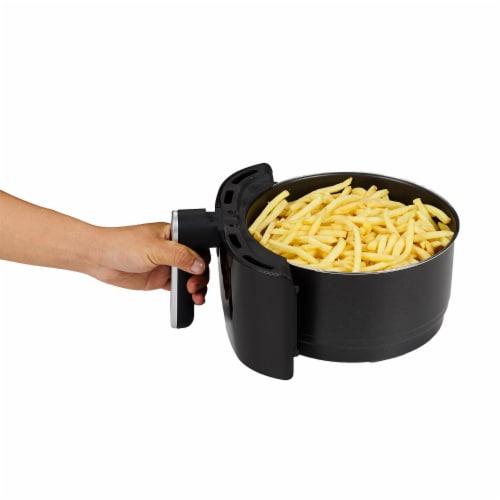 GoWISE USA 5.0-Quart 1500-Watt Digital Air Fryer, (Black) Perspective: bottom