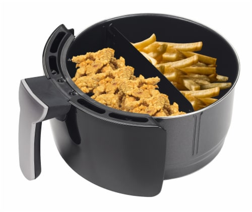 GoWISE USA 5-Quart Air Fryer with 8 Cook Presets, Black Perspective: bottom