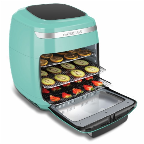 GoWISE USA 11.6-Quart Air Fryer Toaster Oven, Vibe, Mint/Silver Perspective: bottom