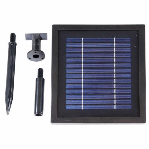 "Sunnydaze 2-Tier Pineapple Solar Outdoor Water Fountain w/ Battery - 46"" - Earth Perspective: bottom"