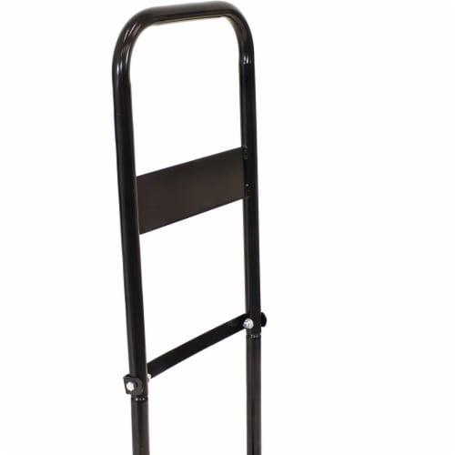 Sunnydaze Log Cart Steel Heavy-Duty Rolling Wheeled Firewood Carrier Dolly Perspective: bottom