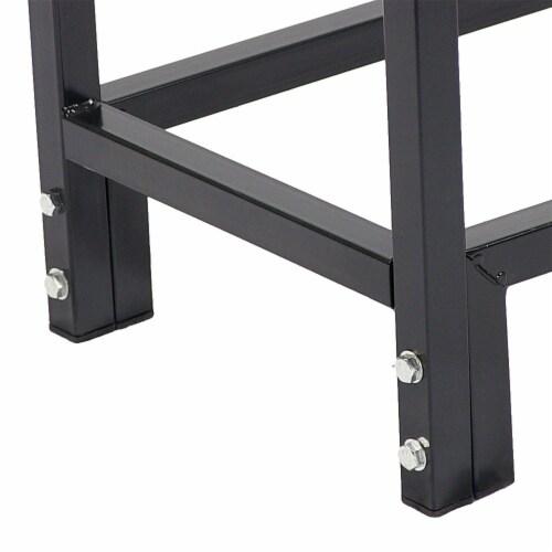 "Sunnydaze Firewood Steel Log Rack Storage Holder with Black PVC Cover - 30"" Perspective: bottom"