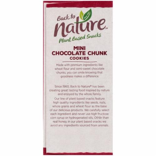 Back To Nature Mini Chocolate Chunk Cookies Perspective: bottom