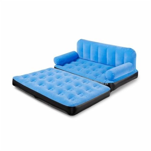 Bestway Multi Max Inflatable Air Couch or Double Bed with AC Air Pump, Blue Perspective: bottom