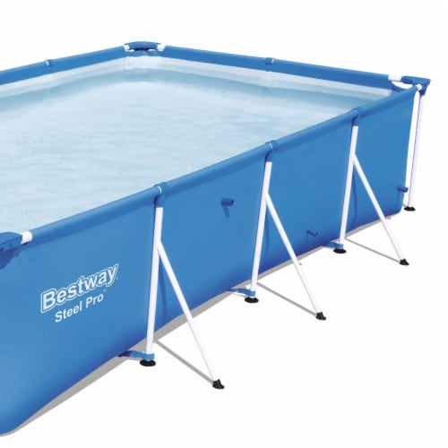 """Bestway Steel Pro 13' x 7' x 32"""" Rectangular Frame Above Ground Swimming Pool Perspective: bottom"""