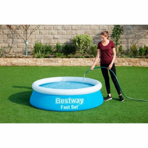 Bestway Fast Set 6 Foot x 20 Inch Outdoor Inflatable Round Swimming Pool Set Perspective: bottom