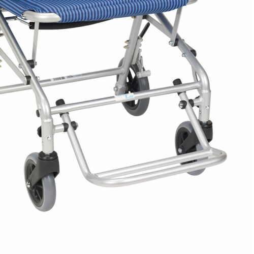 Drive Medical SL18 Super Light Foldable Wheeled Transport Chair with Carry Bag Perspective: bottom