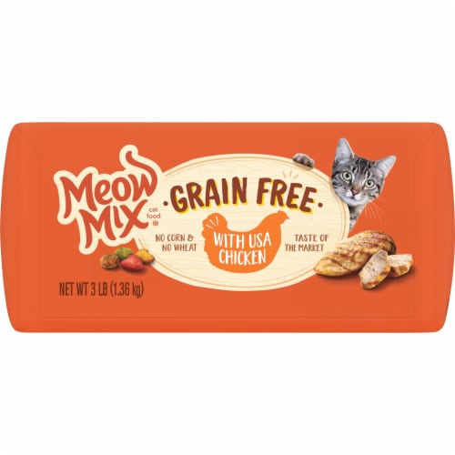 Meow Mix Grain Free with Chicken Dry Cat Food Perspective: bottom